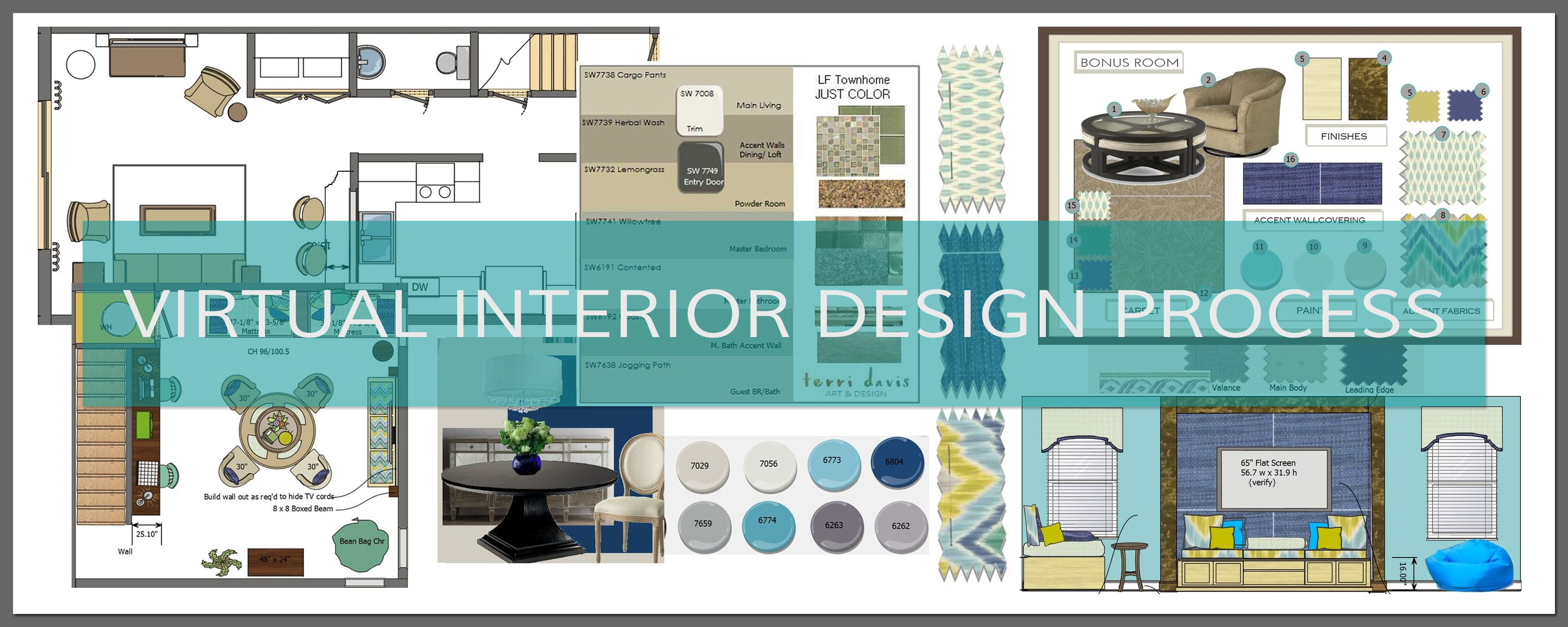 Virtual interior design process terri davis art design for Virtual blueprint maker