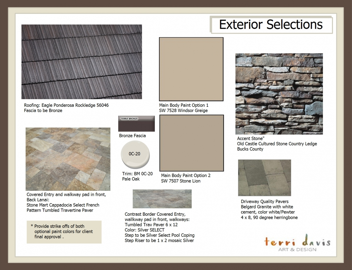 1. Exterior Selections