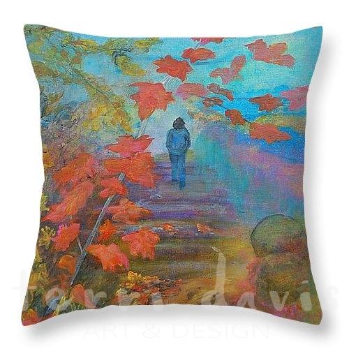 autumn walk pillow