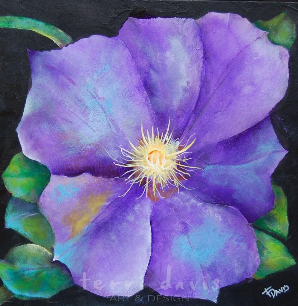 Ivan's Garden 5 - Purple Clemetis